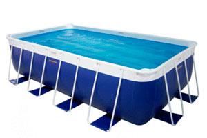 piscina desmontable desnivelada
